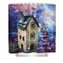 Lavender Hill Shower Curtain by Mo T