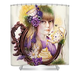 Lavender Honey Shower Curtain by Sheena Pike