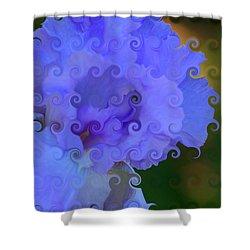 Lavender Curlicue Iris  Shower Curtain