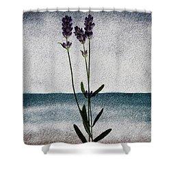 Lavender Ocean Breath Shower Curtain