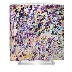 Lavender Rain Shower Curtain