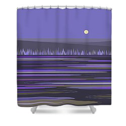 Shower Curtain featuring the digital art Lavender Reflections by Val Arie