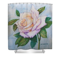 Lavender Rose Shower Curtain by Marna Edwards Flavell