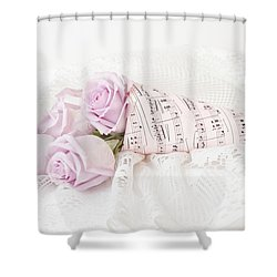 Lavender Roses And Music Shower Curtain