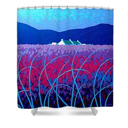Lavender Scape Shower Curtain by John  Nolan
