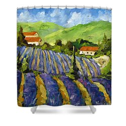 Lavender Scene Shower Curtain by Richard T Pranke