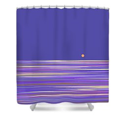 Lavender Sea Shower Curtain by Val Arie