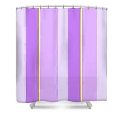 Shower Curtain featuring the mixed media Lavender Stripe Pattern by Christina Rollo