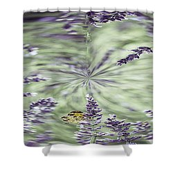 Lavender Swirl Shower Curtain by Cathy Donohoue