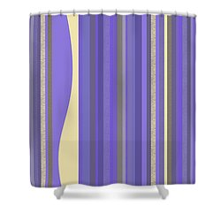 Shower Curtain featuring the digital art Lavender Twilight - Stripes by Val Arie