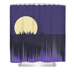 Shower Curtain featuring the digital art Lavender Twilight by Val Arie