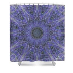 Lavender Twirl Kaleido Shower Curtain