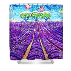 Lavender Shower Curtain by Viktor Lazarev