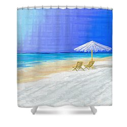 Lawn Chairs In Paradise Shower Curtain