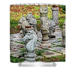 Shower Curtain featuring the photograph Lawn Chess by Chris Anderson