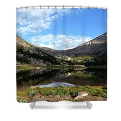 Lawn Lake And Reflection Shower Curtain