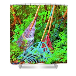 Lawn Tools Shower Curtain