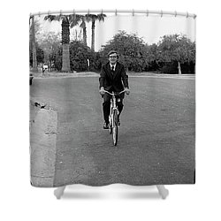 Lawyer On A Bicycle, 1971 Shower Curtain