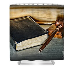 Lawyer - Truth And Justice Shower Curtain by Paul Ward