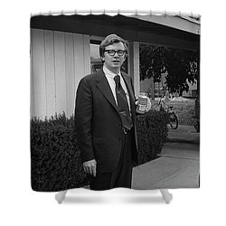 Lawyer With Can Of Tab, 1971 Shower Curtain