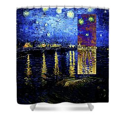 Layered 15 Van Gogh Shower Curtain