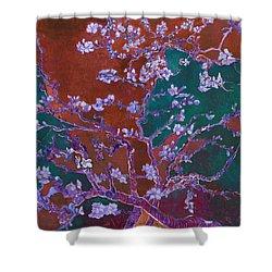 Layered 2 Van Gogh Shower Curtain