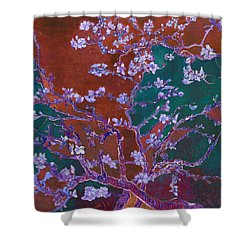 Layered 2 Van Gogh Shower Curtain