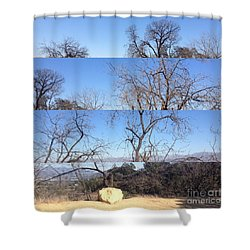 Layered Perspectives Shower Curtain