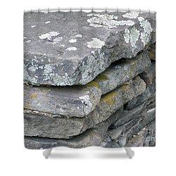 Layered Rock Wall Shower Curtain
