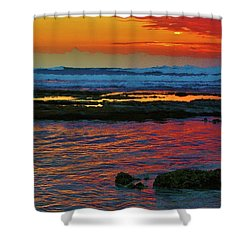 Layered Sunset Shower Curtain by Craig Wood