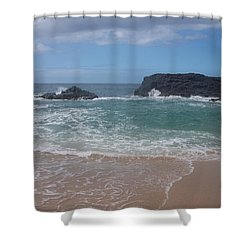 Layered Waves Shower Curtain