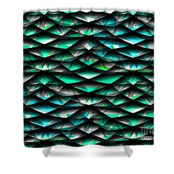 Layers Abstract Shower Curtain