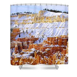 Shower Curtain featuring the photograph Layers by Chad Dutson