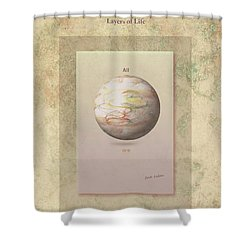 Layers Of Life Shower Curtain by Jack Eadon