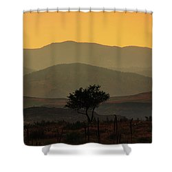 Layers Of Lucidity Shower Curtain