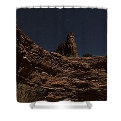 Layers Of Time Shower Curtain by Melany Sarafis