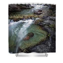 Layers Of Waterfalls Shower Curtain