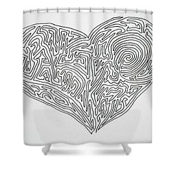Laying Your Heart On A Line  Shower Curtain