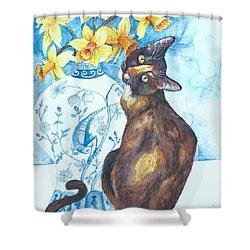 Layla Lu And Daffodils Too Shower Curtain