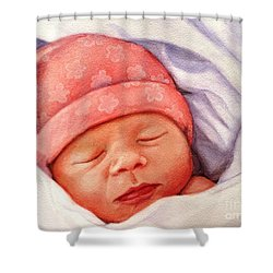 Layla Shower Curtain by Marilyn Jacobson