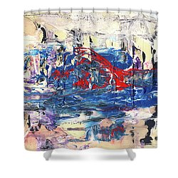 Laziness - Large Bright Pastel Abstract Art Shower Curtain