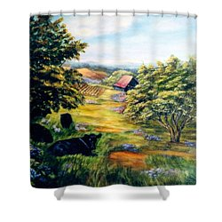 Lazy Day Shower Curtain by Gail Kirtz
