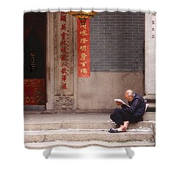 Lazy Day In Hong Kong Shower Curtain by Sandra Bronstein