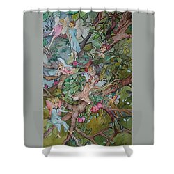Lazy Days Shower Curtain by Claudia Cole Meek