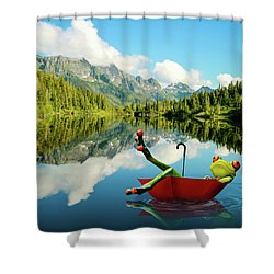 Shower Curtain featuring the digital art Lazy Days by Nathan Wright