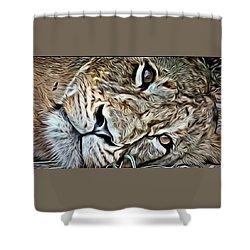 Lazy Lion Shower Curtain
