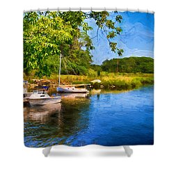 Lazy Summers Day Shower Curtain by Tricia Marchlik