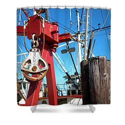 Shower Curtain featuring the photograph Lbi Boat Chain by John Rizzuto