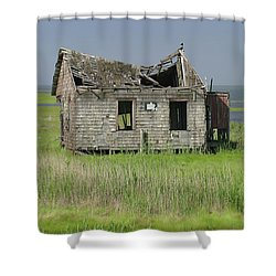 Long Beach Island Crab Shack Shower Curtain