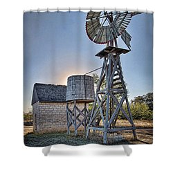 Lbj Homestead Windmill Shower Curtain